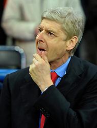 13.03.2013, Fussball Champions League Achtelfinale Rückspiel: FC Bayern München - FC Arsenal London, In der Allianz-Arena München. Trainer Arsene Wenger (Arsenal London)