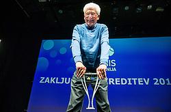 Drago Zavrsnik of ZTK Maribor during Slovenian Tennis personality of the year 2017 annual awards presented by Slovene Tennis Association Tenis Slovenija, on November 29, 2017 in Siti Teater, Ljubljana, Slovenia. Photo by Vid Ponikvar / Sportida