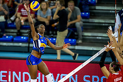 11-08-2018 NED: Rabobank Super Series Italy - Russia, Eindhoven<br /> Russia defeats Italiy with 3-0 and goes to the final on sunday / Sylvia Nwakalor #7 of Italy