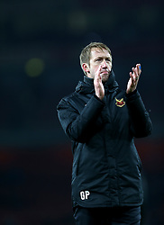 Ostersunds FK manager Graham Potter applauds fans after the final whistle