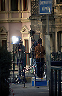 ISTANBUL, TURKEY - 22-11-2003: Aftermath of the Istanbul bombings on November 20. --One of the many media stand-ups at the bombing sites--