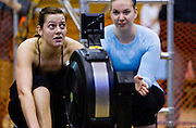 Athletes complete at the Canadian indoor rowing championships at the Monster Erg event held at the University of Victoria in Victoria, B.C., on Sunday February 2, 2014.
