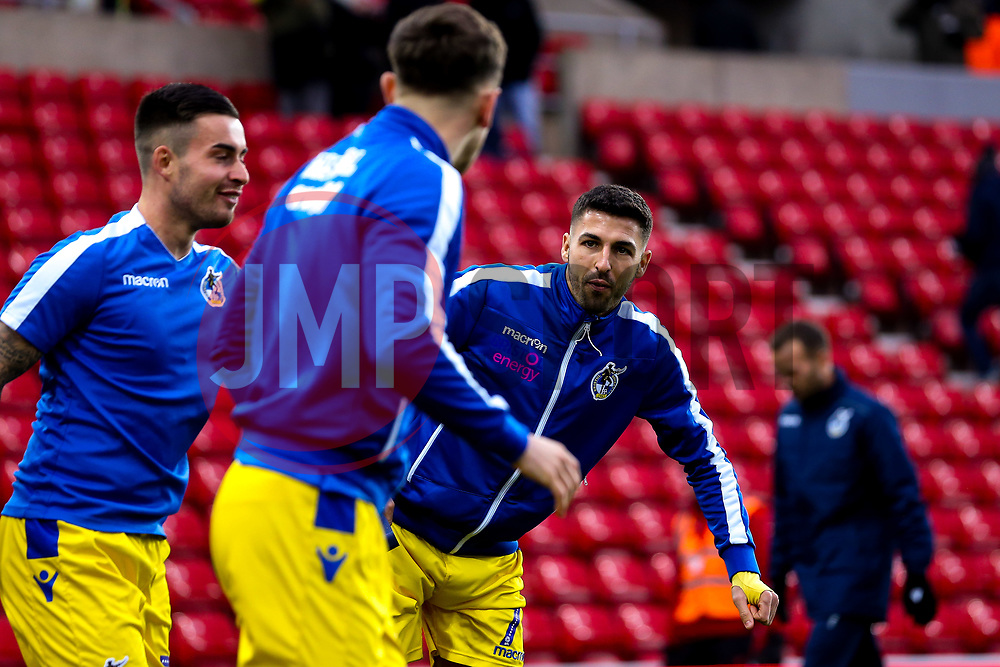 Liam Sercombe of Bristol Rovers warms up ahead of his side's Sky Bet League One fixture against Sunderland - Mandatory by-line: Robbie Stephenson/JMP - 15/12/2018 - FOOTBALL - Stadium of Light - Sunderland, England - Sunderland v Bristol Rovers - Sky Bet League One