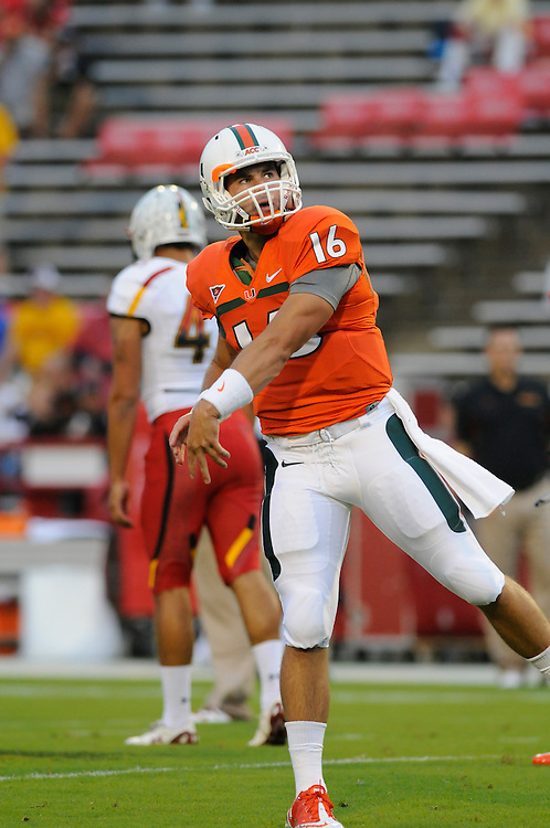 2011 Miami Hurricanes Football @ Maryland<br /> <br /> Mark Whipple