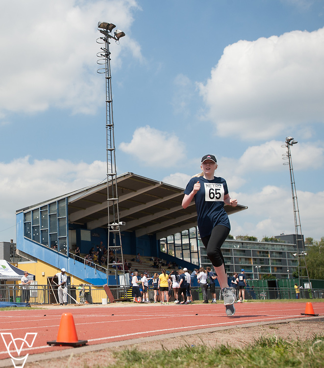Metro Blind Sport's 2017 Athletics Open held at Mile End Stadium.  800m.  Emma Quigley<br /> <br /> Picture: Chris Vaughan Photography for Metro Blind Sport<br /> Date: June 17, 2017