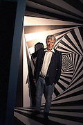 Federico Giudiceandrea, industrialist and collector, poses at Escher exhibition that takes place at Palazzo Reale from June 24 to Jannuary 27, 2017, Milan June 23, 2016. Giudiceandrea is one of the curator of exhibition and also the main Escher collector in Europe. &copy; Carlo Cerchioli<br />