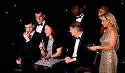 Bristol Jets Head Coach Rebecca Pantaney is interviewed alongside Chris Coles of Bristol Jets and Chairman Ian Gorham - Mandatory by-line: Robbie Stephenson/JMP - 08/12/2016 - SPORT - Ashton Gate - Bristol, England  - Bristol Sport Gala Dinner