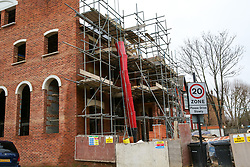 © Licensed to London News Pictures. 31/12/2018. London, UK. General view of the building site on Filey Avenue. A body of a man was discovered this morning at a building site on Filey Avenue in Hackney. Police are currently treating the death as unexplained.  Photo credit: Dinendra Haria/LNP