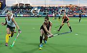 Krystal Forgesson during a Black Sticks Women v South Africa preliminary pool match at the Glasgow National Hockey Stadium. Glasgow Commonwealth Games 2014. Monday 28 July 2014. Scotland. Photo: Andrew Cornaga/www.Photosport.co.nz