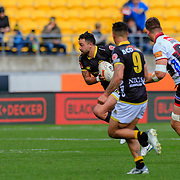 WELLINGTON, NEW ZEALAND - 9 SEPTEMBER: Action during the New Zealand ITM Cup rugby union game played on 9 September 2018, between Wellington v North Harbour, played at Westpac Stadium, Wellington, New Zealand. Wellington won 35-23.
