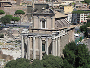 Italy, Rome, forum from Palatino hill
