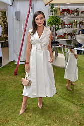Amy Jackson at the Cartier Queen's Cup Polo 2019 held at Guards Polo Club, Windsor, Berkshire. UK 16 June 2019 - <br /> <br /> Photo by Dominic O'Neill/Desmond O'Neill Features Ltd.  +44(0)7092 235465  www.donfeatures.com