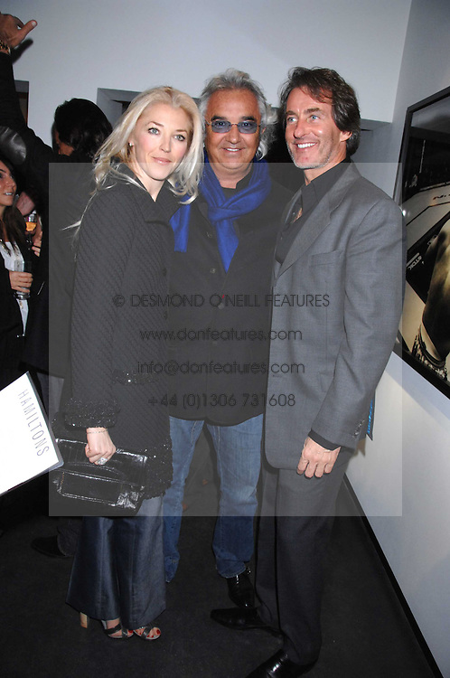 TAMARA VERONI and FLAVIO BRIATORE and TIM JEFFERIES at a private view of Octagan a showcase of work of photographer Kevin Lynch featuring the stars of the Ultimate Fighter Championship held at Hamiltons gallery, Mayfair, London on 17th January 2008.<br /><br />NON EXCLUSIVE - WORLD RIGHTS