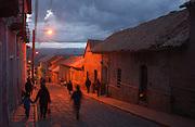 Potosi, Bolivia.<br /> Dusk in Potosi old town