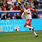 HARRISON, NEW JERSEY- November 06:  Chris Duvall #25 of New York Red Bulls in action during the New York Red Bulls Vs Montreal Impact MLS playoff match at Red Bull Arena, Harrison, New Jersey on November 06, 2016 in Harrison, New Jersey. (Photo by Tim Clayton/Corbis via Getty Images)
