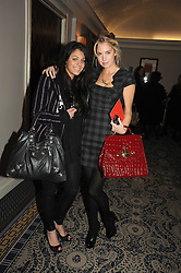 Left to right, JUSTINE GERSHAM and MARISSA MONTGOMERY at the In Style Handbag Auction is association with Revlon raising money for the Rainbow Trust children's charity held at the Berkeley Hotel, Knightsbridge, London on 4th November 2008.