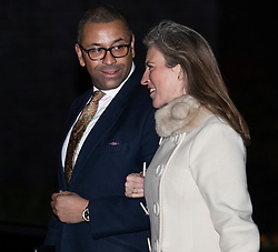 © Licensed to London News Pictures. 07/01/2019. London, UK. James Cleverly MP and Susannah Cleverly arriving in Downing Street to attend a drinks reception in Number 10. British Prime Minister Theresa May is currently trying to persuade MPs to back her Brexit withdrawal deal. MPs will be debating the issue this week, with the postponed vote taking place on Tuesday 15th January. Photo credit : Tom Nicholson/LNP