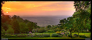 Panoramic photograph of spectacular view of Blue Ridge Mountains in Virginia.  Print Size (in inches): 15x6; 24x9; 36x14; 40x15; 48x18; 60x23; 72x27.5