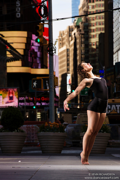 Times Square New York City Dance As Art Photography Project with dancer Maja Bakija