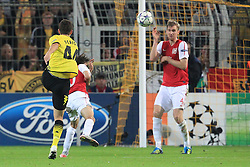 13.09.2011, Signal Iduna Park, Dortmund, GER, UEFA CL, Gruppe F, Borussia Dortmund (GER) vs Arsenal London (ENG), im Bild.Torschuss zum 1:1 durch Ivan Perisic (Dortmund #14)..// during the UEFA CL, group F, Borussia Dortmund (GER) vs Arsenal London on 2011/09/13, at Signal Iduna Park, Dortmund, Germany. EXPA Pictures © 2011, PhotoCredit: EXPA/ nph/  Mueller       ****** out of GER / CRO  / BEL ******