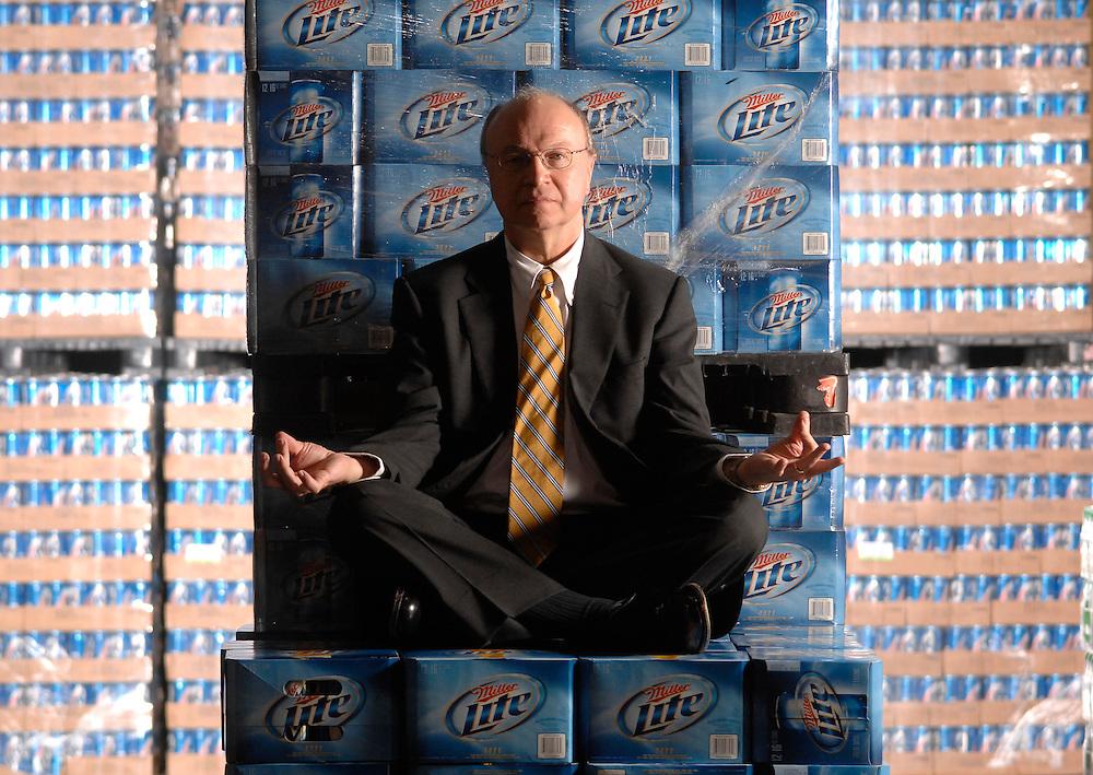 Beer distributor who also practices Zen meditation.