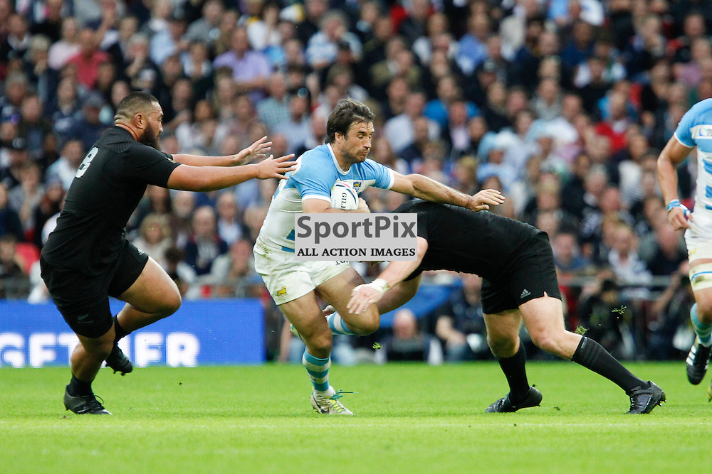 WEMBLEY, ENGLAND - SEPTEMBER 20: Juan Martin Hernandez of Argentina during the 2015 Rugby World Cup Pool C match between New Zealand and Argentina at Wembley Stadium on September 20, 2015 in London, England. (Credit: SAM TODD | SportPix.org.uk)