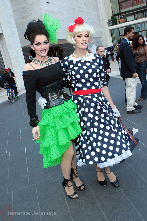 9 September 2010- New York, NY- l to r: Ivy Winters and Devon Stone at the 2010 Mercedes-Benz Fashion Week held at the Lincoln Center's Damrosch Park, the new home for Fashion Week on September 9, 2010 in New York City. Photo Credit: Terrence Jennings