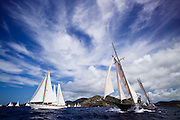 Petrana and Kate sailing in the Old Road Race at the 2011 Antigua Classic Yacht Regatta.