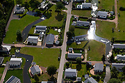 "Nederland, Gelderland, gemeente Barneveld, 30-06-2011;.Voorthuizen, Recreatiecentrum De Boshoek. Recreation area with holiday villas  ""De Boshoek"" near the city of Voorthuizen..luchtfoto (toeslag), aerial photo (additional fee required).copyright foto/photo Siebe Swart"