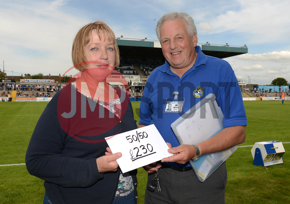 50/50 draw winner - Photo mandatory by-line: Dougie Allward/JMP - Mobile: 07966 386802 - 18/07/2015 - SPORT - Football - Bristol - Memorial Stadium - Pre-Season Friendly