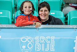 Supporters prior to the football match between National teams of Slovenia and Slovakia in Round #2 of FIFA World Cup Russia 2018 qualifications in Group F, on October 8, 2016 in SRC Stozice, Ljubljana, Slovenia. Photo by Vid Ponikvar / Sportida