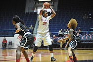 "Ole Miss' Tia Faleru (32) vs. Christian Brothers in an exhibition basketball game at the C.M. ""Tad"" Smith Coliseum in Oxford, Miss. on Friday, November 7, 2014. (AP Photo/Oxford Eagle, Bruce Newman)"