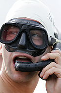 PIC BY ANDREW ORCHARD.THE SPMK WORLD BOG SNORKELLING CHAMPIONSHIPS 2006 HELD AT THE WAEN RHYDD PEAT BOG IN LLANWRTYD WELLS, POWYS ON BANK HOLIDAY MONDAY 28TH AUGUST 2006.