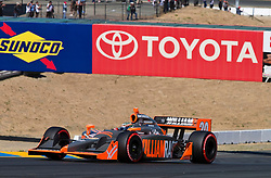 Ed Carpenter (20) during the 2009 Sonoma Grand Prix IndyCar race was held at Infineon Raceway in Sonoma, California on August 23, 2009.
