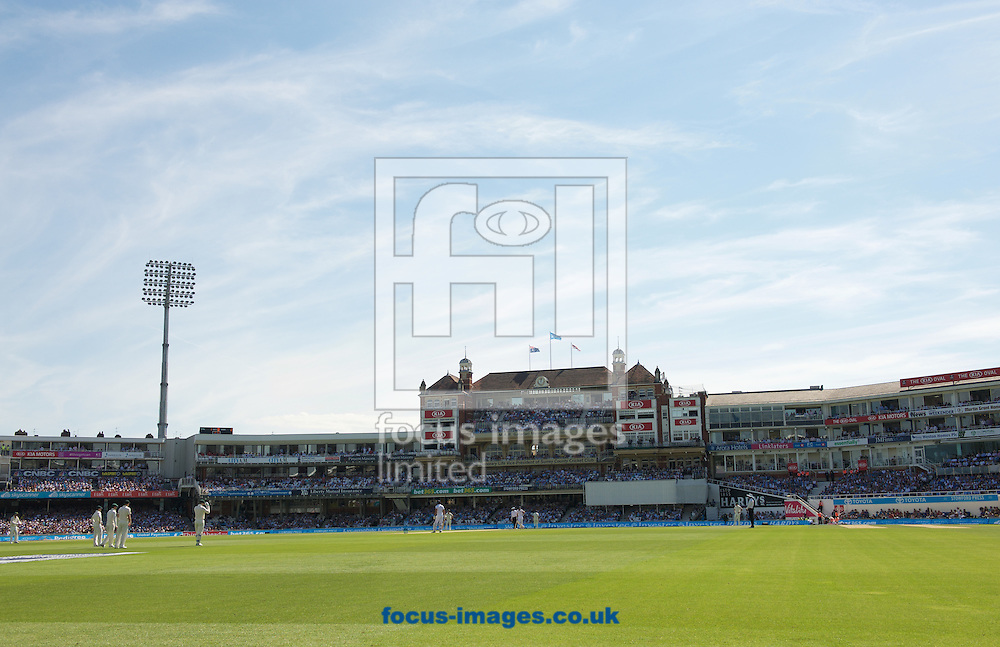 A view of the club house during the 5th Investec Ashes Test Match match at the Kia Oval, London<br /> Picture by Alan Stanford/Focus Images Ltd +44 7915 056117<br /> 22/08/2015