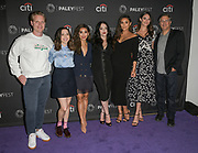 "L to R: BRETT HEDBLOM, ESTHER POVITSKY, BRENDA SONG, KAT DENNINGS, SHAY MITCHELL, JORDAN WEISS, and IRA UNGERLEIDER attend the Hulu Presentation of ""Dollface"" at the 2019 PaleyFest Fall TV Previews at the Paley Center for Media in Beverly Hills, California."
