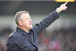 Chris Wilder Manager Northampton, Northampton Town v Portsmouth, Sixfields, Sky Bet League 2, Saturday 19th December 2015