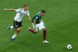 June 17, 2018 - Moscow, Russia - June 17, 2018, Russia, Moscow, FIFA World Cup, First round, Group F, Germany vs Mexico at the Luzhniki stadium. Player of the national team Thomas Mller, Andres Jose Guardado Hernandez (Credit Image: © Russian Look via ZUMA Wire)