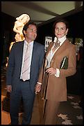 RENE  SATTLER (L) & AIGA SATTLER (R) at the preview of LAPADA Art and Antiques Fair. Berkeley Sq. London. 23 September 2014.