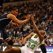 Jewell Loyd, Notre Dame, shoots over Kaleena Mosqueda-Lewis during the Connecticut V Notre Dame Final match won by Notre Dame during the Big East Conference, 2013 Women's Basketball Championships at the XL Center, Hartford, Connecticut, USA. 11th March. Photo Tim Clayton