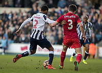 Football - 2016 / 2017 FA Cup - Fifth Round: Millwall vs. Leicester City <br /> <br /> Shaun Cummings of Millwall strikes home the winning goal at The Den<br /> <br /> COLORSPORT/DANIEL BEARHAM