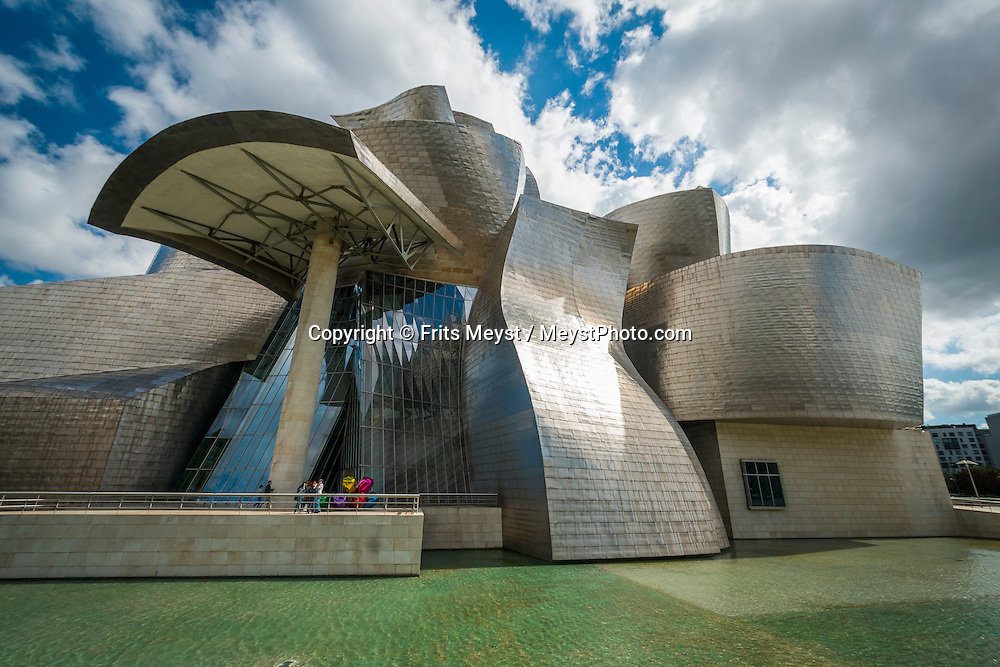 Bilbao, Bizkaia, Basque Country, Spain, June 2014. The Guggenheim museum in Bilbao. The Basque Country (Basque: Euskadi, Spanish: Pais Vasco) is a region at the north of Spain, bordering the Atlantic Ocean and France. It is defined formally as an autonomous community of three provinces within Spain. Basque Country is one of the world's top gastronomic destinations. Photo by Frits Meyst / MeystPhoto.com