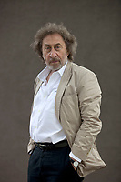 A portrait of Howard Jacobson at the Edinburgh International Book Festival 2012 in Charlotte Square Gardens<br /> <br /> Pic by Pako Mera