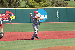 05 May 2018: Nick McMurray during an NCAA Division I Baseball game between the Bradley Braves and the Illinois State Redbirds in Duffy Bass Field, Normal IL