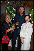 ANTHEA GERRIE; NIKLAS EKSTEDT; ELENA ARZAK, Veuve Clicquot World's Best Female chef champagne tea party. Halkin Hotel. Halkin St. London SW1. 28 April 2014.