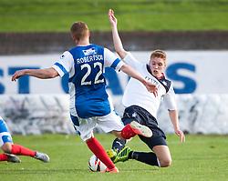 Cowdenbeath's Jon Robertson and Falkirk's Jay Fulton.<br /> Cowdenbeath 1 v 0 Falkirk, 14/9/2013.<br /> &copy;Michael Schofield.