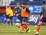 Luton Town player James Justin warms up before the game during the EFL Sky Bet League 2 match between Luton Town and Barnet at Kenilworth Road, Luton, England on 24 March 2018. Picture by Ian  Muir.
