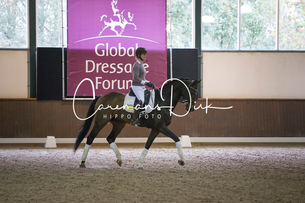 Cornelissen Adelinde (NED)<br /> A sensational new approach to fitness<br /> Global Dressage Forum - Academy Bartels <br /> Hooge Mierde 2012<br /> &Acirc;&copy; Dirk Caremans