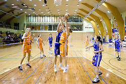 Sarenac Rankica of Merkur vs Sasa Panic of Hit at 4th final match of Slovenian women basketball 1st league between Hit Kranjska Gora and ZKK Merkur Celje, on May 13, 2010, in Arena Vitranc, Kranjska Gora, Slovenia. Celje defeated Kr. Gora 71-60 and the result after 4th match is 2-2. (Photo by Vid Ponikvar / Sportida)