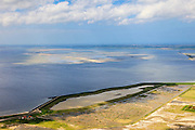 Nederland, Zeeland, Oosterschelde, 09-05-2013; inlagen ten zuiden van Serooskerke. Landinwaarts zijn polders onder water gezet in het kader van Plan Tuureluur. Oosterschelde in de achtergrond.<br /> <br /> QQQ<br /> luchtfoto (toeslag op standard tarieven);<br /> aerial photo (additional fee required);<br /> copyright foto/photo Siebe Swart.